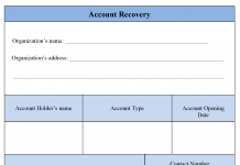 Account Recovery Form