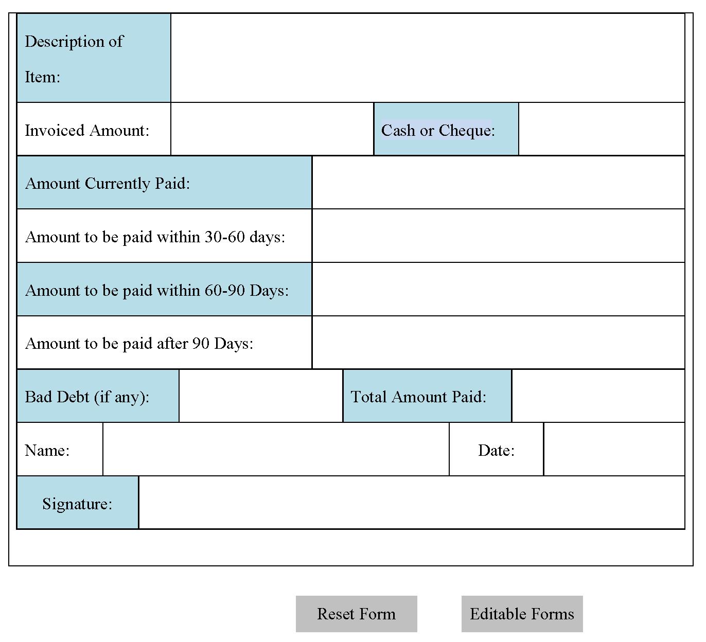 Accounts Payable Form | Editable Forms