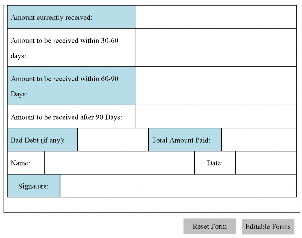 Accounts receivable form for Accounts receivable forms templates