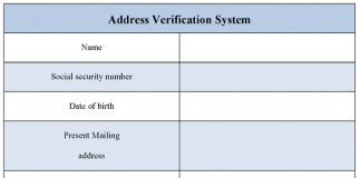 Address Verification System