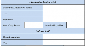 Administrative Assistant Evaluation Form