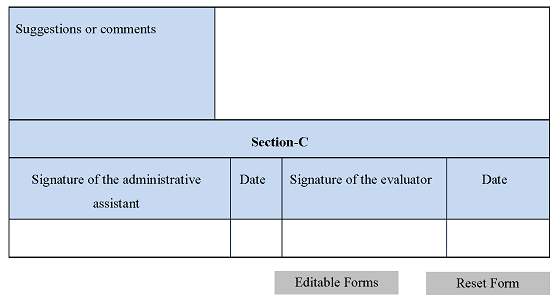 Administrative Assistant Evaluation Form