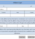 Affidavit Legal Form