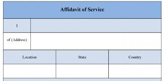 Affidavit of Service Form