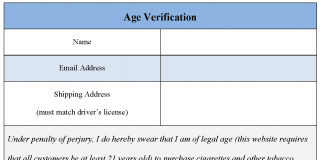 Age Verification Form