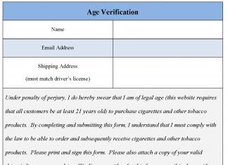 Age Verification Form