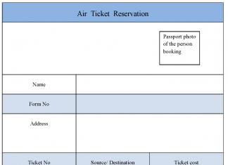 Air Ticket Reservation Form