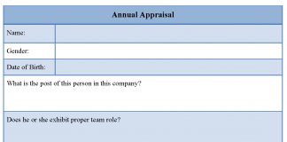 Annual Appraisal Form