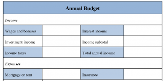 Annual Budget Form