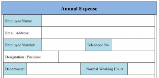 Annual Expense Form