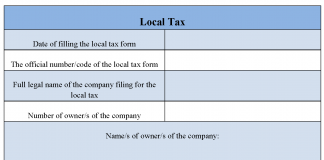 Local Tax Form