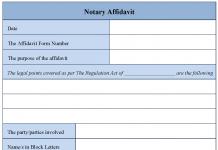 Notary Affidavit Form