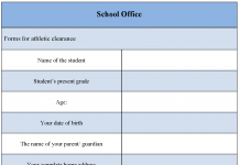 School Office Form