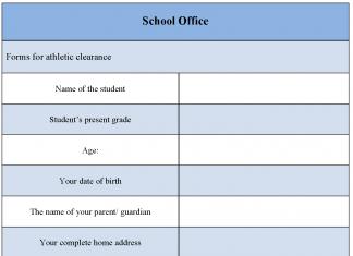 School Office Form