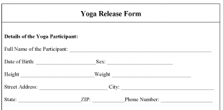 Yoga release form