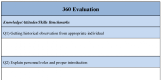 360 Evaluation Form