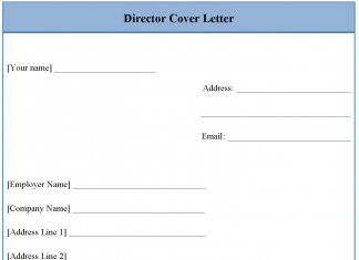 Director Cover Letter Template