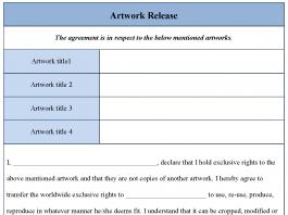 Artwork Release Form