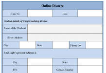 Online divorce form