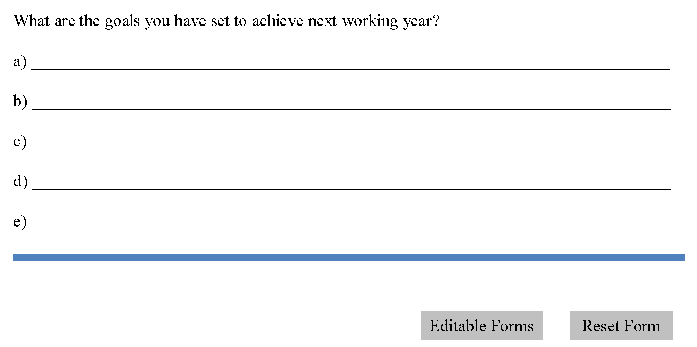 Performance Appraisal Form