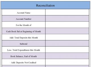 Reconciliation Form