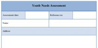 Youth Needs Assessment Template