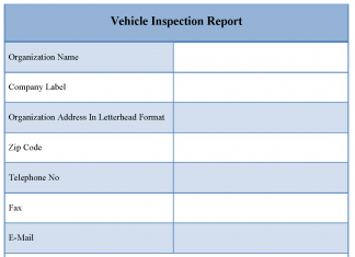 Vehicle Inspection Report Template