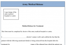 Army Medical Release Form