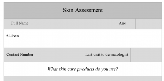 Skin Assessment Form