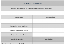 Nursing Assessment Form