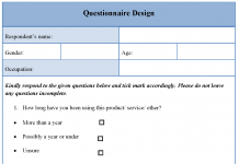Questionnaire Design Template