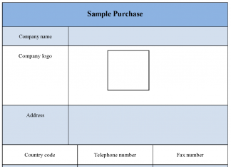 Sample Purchase Form