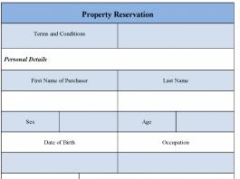 Property Reservation Form