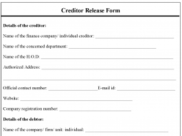 Creditor Release Form