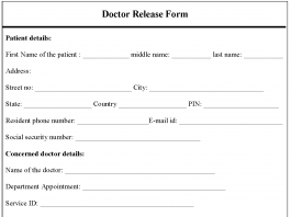 Doctor Release Form