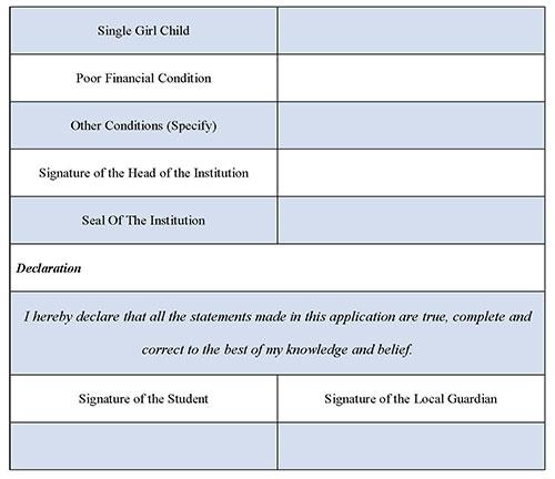 College Reservation Form 3