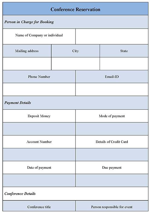 Conference Reservation Form