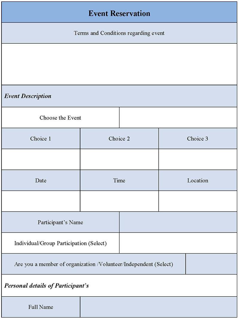 Event Reservation Form