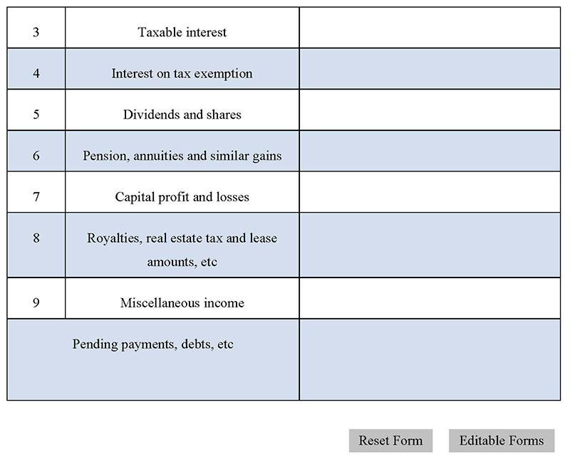 Free Tax Form