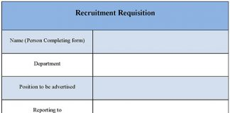 Recruitment Requisition Form