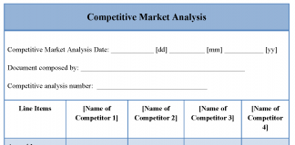 Competitive Market Analysis Template  Competitive Market Analysis Template