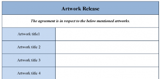 artwork release form - Artwork Release Form